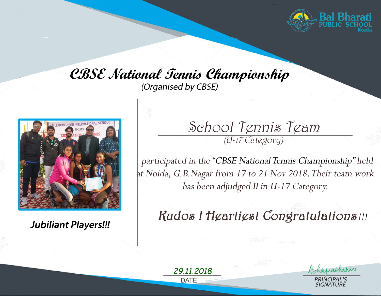 National winners Tennis