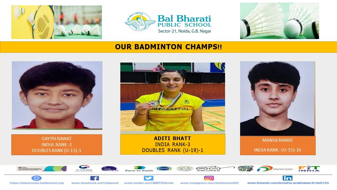Our Badminton Champs