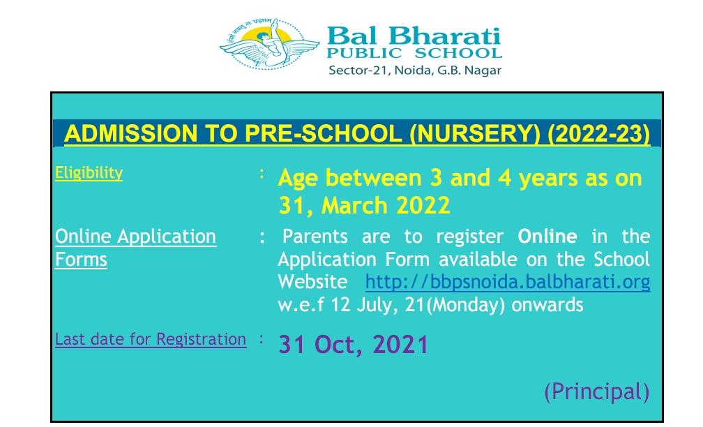 Admission to Pre School (Nursery) 2022-23_001